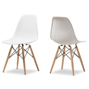 Baxton Studio AZZO Plastic Side Chair Set of 2 AZZO Plastic Side Chair Set of 2 wholesale, wholesale furniture, restaurant furniture, hotel furniture, commercial furniture