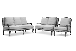 Baxton Studio Antoinette Classic Antiqued French Sofa Set Baxton Studio Antoinette Classic Antiqued French Sofa Set, wholesale furniture, restaurant furniture, hotel furniture, commercial furniture