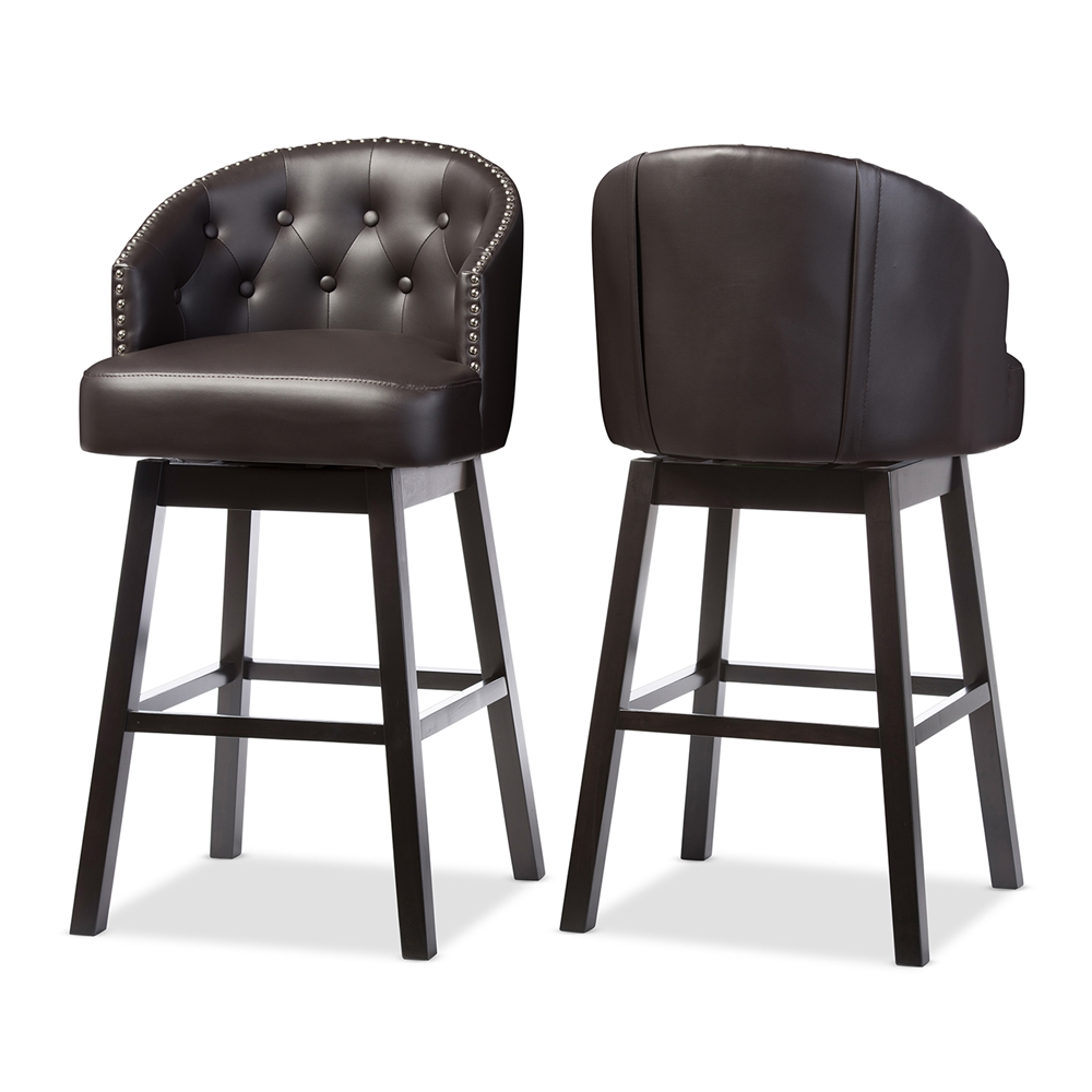 Swivel Leather Bar Stools Home Ideas