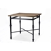 Baxton Studio Broxburn Light Brown Wood & Metal Pub Table - CDC222-PT