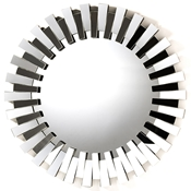 Baxton Studio Caton Contemporary Round Accent Wall Mirror Decorative Accessories/Mirror/Round/Silver