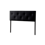 Baxton Studio Dalini Modern and Contemporary King Black Faux Leather Headboard with Faux Crytal Buttons Baxton Studio Dalini Modern and Contemporary King Black Faux Leather Headboard with Faux Crytal Buttons, wholesale furniture, restaurant furniture, hotel furniture, commercial furniture