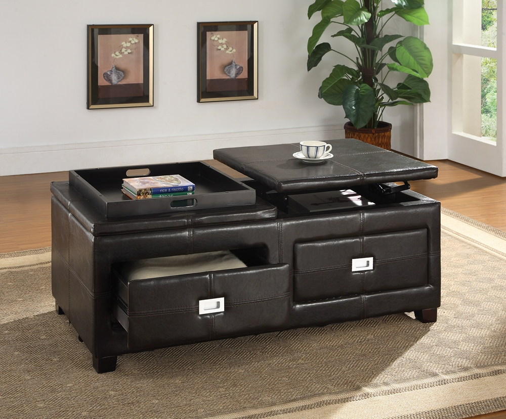 Baxton Studio Indy Modern and Contemporary Functional Lift-top Cocktail  Ottoman Table with Storage Drawers ... - Baxton Studio Indy Modern And Contemporary Functional Lift-top