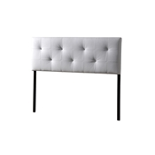 Baxton Studio Kirchem Upholstered White Full Sized Headboard Baxton Studio Kirchem Upholstered White Full Sized Headboard, wholesale furniture, restaurant furniture, hotel furniture, commercial furniture