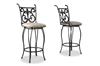 Wholesale Interiors Baxton Studio Lyre Metal Transitional Bar Stool (Set of 2)