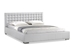 Baxton Studio Madison White Modern Bed with Upholstered Headboard - Queen Size - BBT6183-White-Bed