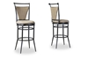 Wholesale Interiors Baxton Studio Majorca Metal Transitional Bar Stool (Set of 2)