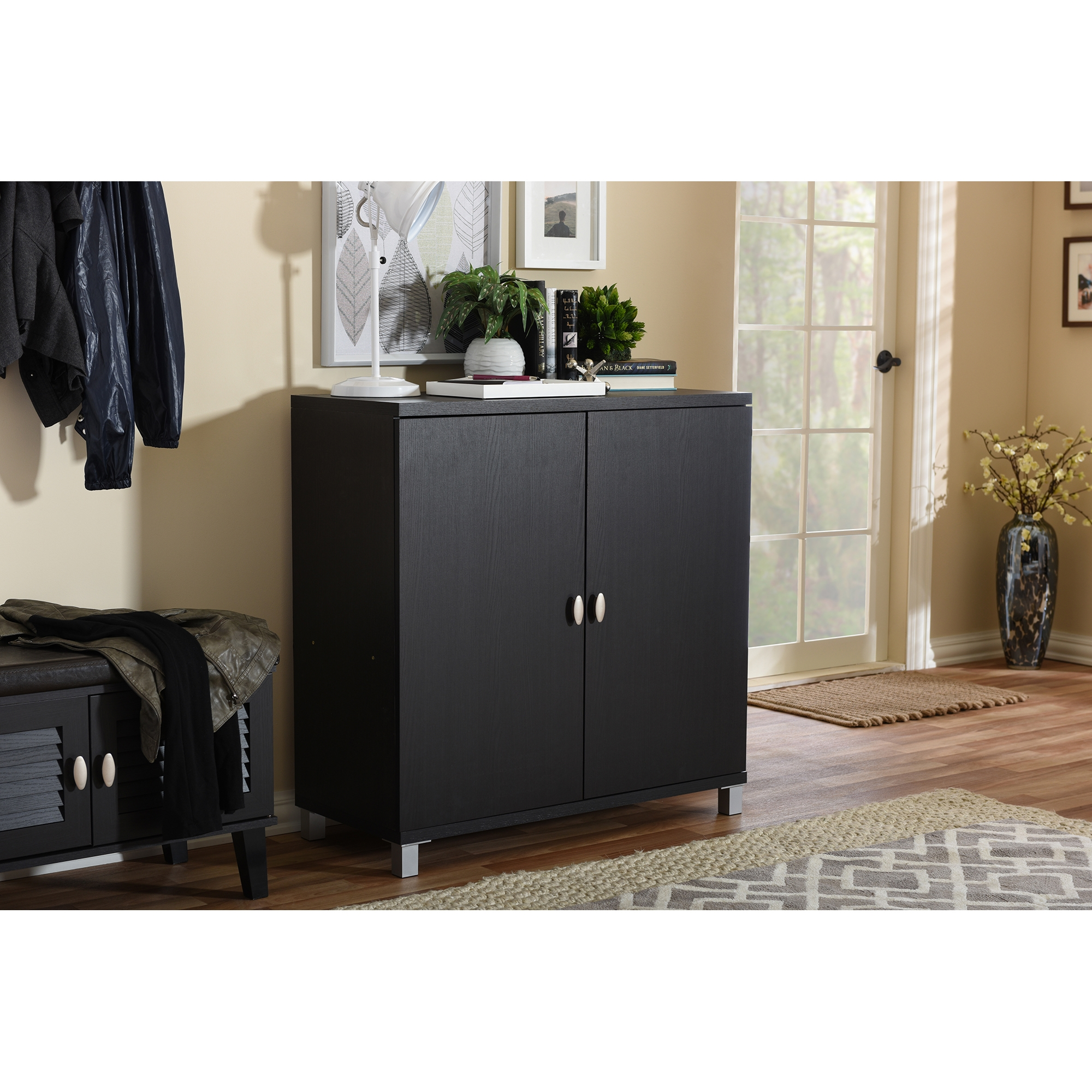 ... Baxton Studio Marcy Modern and Contemporary Dark Brown Wood Entryway Handbags or School Bags Storage Sideboard ...  sc 1 st  Wholesale Interiors & Wholesale Bathroom Storage | Wholesale Bathroom Furniture ...