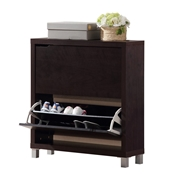 Baxton Studio Simms Dark Brown Modern Shoe Cabinet