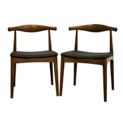 Baxton Studio Sonore Solid Wood Mid-Century Style Accent Chair Dining Chair Set of 2 Sonore Solid Wood Mid-Century Style Accent Chair Dining Chair wholesale, wholesale furniture, restaurant furniture, hotel furniture, commercial furniture