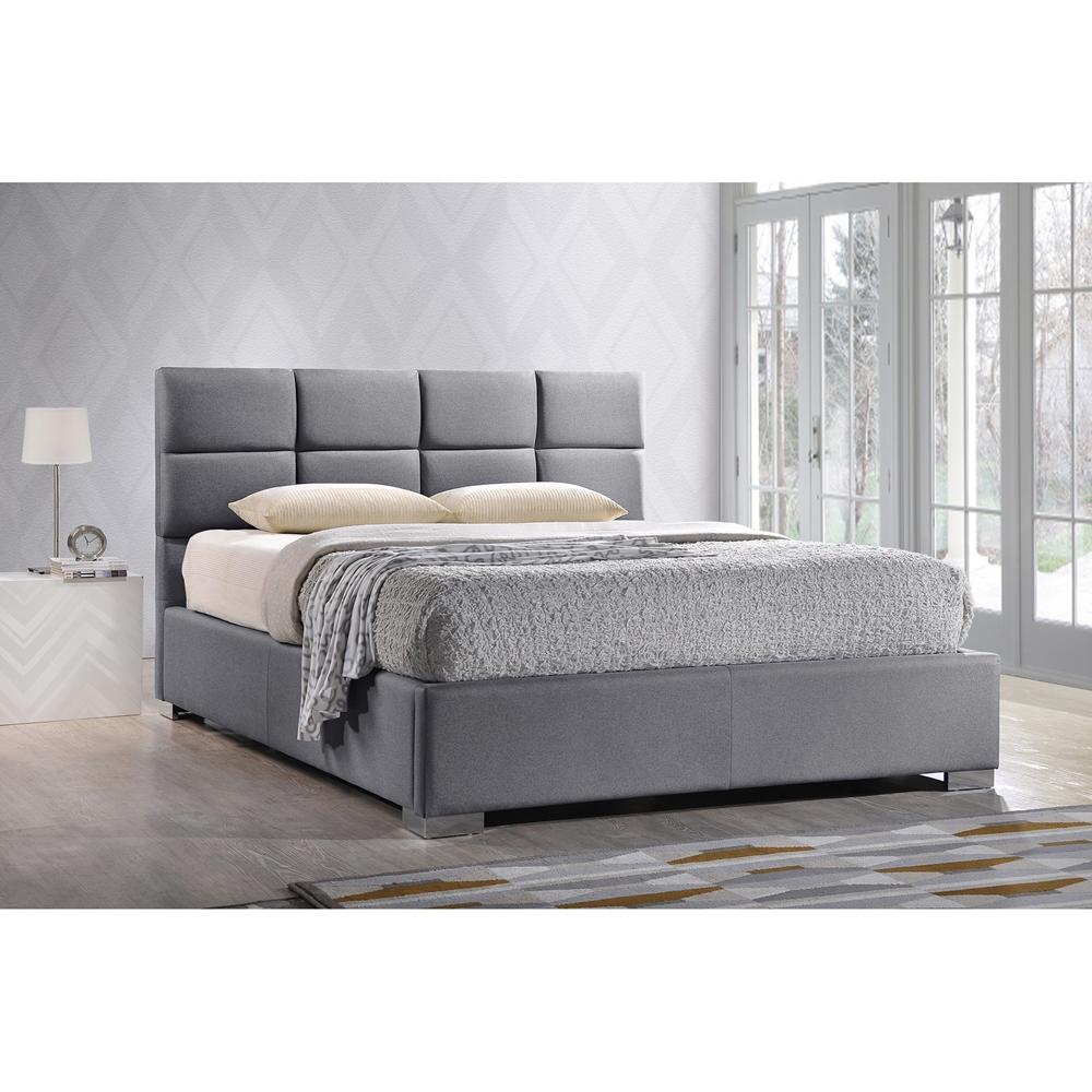 Sophie Contemporary Modern Upholstered Platform Bed Frame
