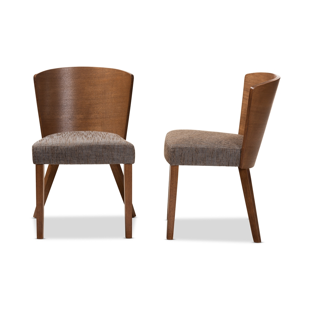 Baxton Studio Sparrow Brown Wood Modern Dining Chair Set Of 2 Wholesale Interiors