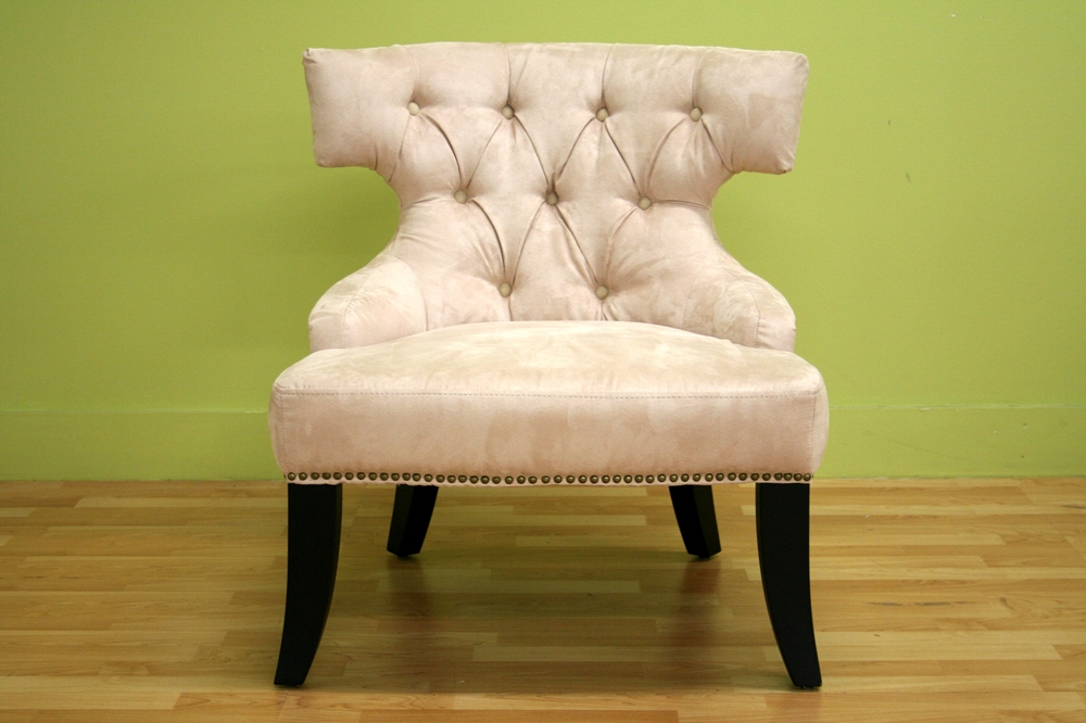 Taft Microfiber Club Chair In Beige Wholesale Interiors
