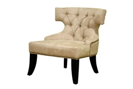 Baxton Studio Taft MicroFiber Club Chair in Beige Taft MicroFiber Club Chair in Beige wholesale, wholesale furniture, restaurant furniture, hotel furniture, commercial furniture