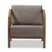 Baxton Studio Velda Brown Modern Accent Chair Wholesale