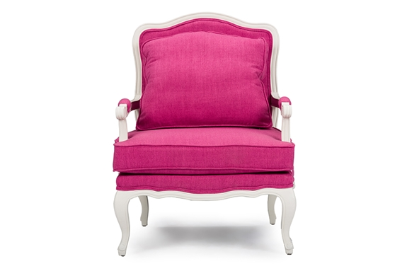 Baxton Studio Antoinette Classic Antiqued Pink Fabric French Accent Chairone 1 Accent Chair