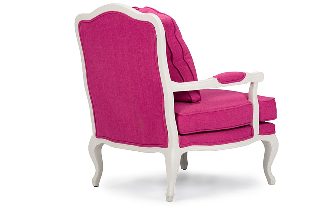 baxton studio antoinette classic antiqued pink fabric french accent chairone 1 accent chair. Black Bedroom Furniture Sets. Home Design Ideas