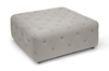 Wholesale Interiors Baxton Studio Teague Beige Linen Modern Tufted Ottoman