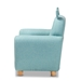 Baxton Studio Gloria Modern and Contemporary Sky Blue Fabric Upholstered Kids Armchair with Animal Ears - LD-2308-Blue-CC