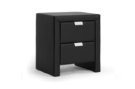 Baxton Studio Frey Black Upholstered Modern Nightstand Baxton Studio Frey Black Upholstered Modern Nightstand, wholesale furniture, restaurant furniture, hotel furniture, commercial furniture