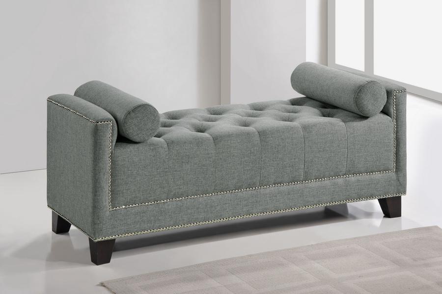 Baxton Studio Hirst Gray Platform Bed : Baxton studio hirst gray platform bed queen size with