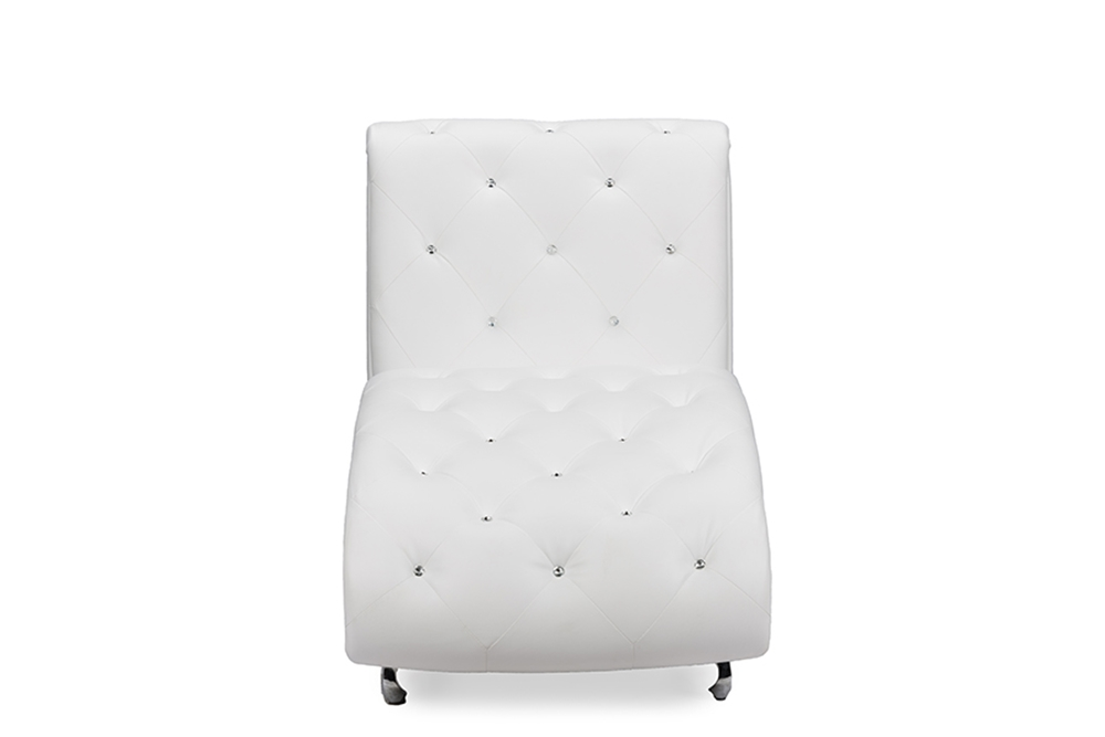 Baxton Studio Pease Contemporary White Faux Leather