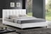 Baxton Studio Vino White Modern Bed with Upholstered Headboard - Queen Size - BBT6312-White-Queen