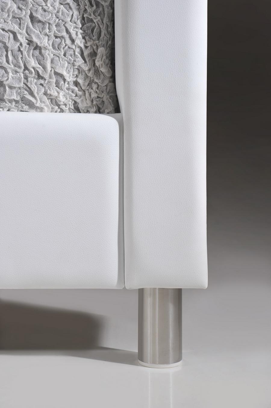 Baxton Studio Carlotta White Modern Bed With Upholstered Headboard King Size Bbt6376