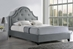 Baxton Studio Colchester Grey Linen Modern Platform Bed - Queen Size With Bench - BBT6433-Grey-Queen&BBT5167-Grey DE800-Bench