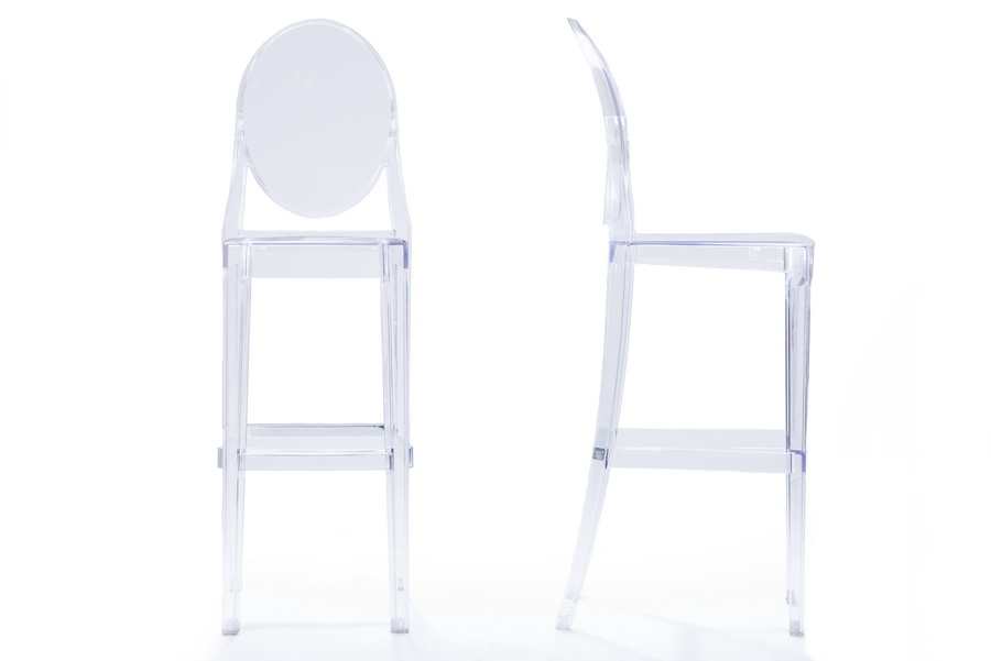 Superbe Baxton Studio Infinity Clear Plastic Contemporary Bar Stool (Set Of 2)    BS  ...