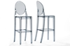 Wholesale Interiors Baxton Studio Infinity Smoked Plastic Contemporary Bar Stool (Set of 2)