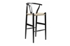 Wholesale Interiors Baxton Studio Mid-Century Modern Wishbone Stool - Black Wood Y Stool
