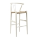Mid-Century Modern Wishbone Stool - White Wood Y Stool - BS-541A-White