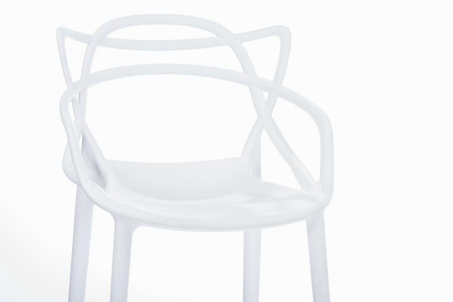Baxton studioelectron white plastic contemporary bar stool wholesale interiors - Witte plastic stoel ...