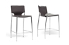 Wholesale Interiors Baxton Studio Montclare Brown Leather Modern Counter Stool (Set of 2)