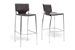 Baxton Studio Montclare Brown Leather Modern Bar Stool (Set of 2) - ALC-1083A-75 Brown