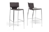 Wholesale Interiors Baxton Studio Montclare Brown Leather Modern Bar Stool (Set of 2)