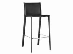 Baxton Studio Crawford Black Leather Counter Height Stool (Set of 2) Crawford Black Leather Counter Height Stool wholesale, wholesale furniture, restaurant furniture, hotel furniture, commercial furniture