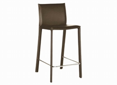 Baxton Studio Brown Leather Counter Stool (Set of 2) Brown Leather Counter Stool wholesale, wholesale furniture, restaurant furniture, hotel furniture, commercial furniture