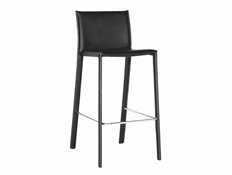 Baxton Studio Black Leather Bar Stool (Set of 2) Black Leather Bar Stool wholesale, wholesale furniture, restaurant furniture, hotel furniture, commercial furniture