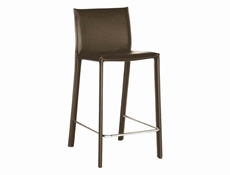 Baxton Studio Brown Leather Bar Stool (Set of 2) Brown Leather Bar Stool wholesale, wholesale furniture, restaurant furniture, hotel furniture, commercial furniture