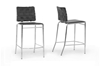 Wholesale Interiors Baxton Studio Vittoria Black Leather Modern Counter Stool (Set of 2)