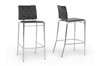 Wholesale Interiors Baxton Studio Vittoria Black Leather Modern Bar Stool (Set of 2)