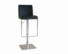 Baxton Studio Dallas Black Leather Bar Stool Dallas Black Leather Bar Stool wholesale, wholesale furniture, restaurant furniture, hotel furniture, commercial furniture
