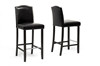 Wholesale Interiors Baxton Studio Libra Black Modern Bar Stool with Nail Head Trim (Set of 2)