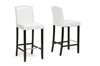Wholesale Interiors Baxton Studio Libra White Modern Bar Stool with Nail Head Trim (Set of 2)
