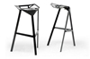 Wholesale Interiors Baxton Studio Kaysa Black Aluminum Modern Bar Stool (Set of 2)