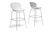 Wholesale Interiors Baxton Studio Tolland Modern Bar Stool with White Cushion (Set of 2)