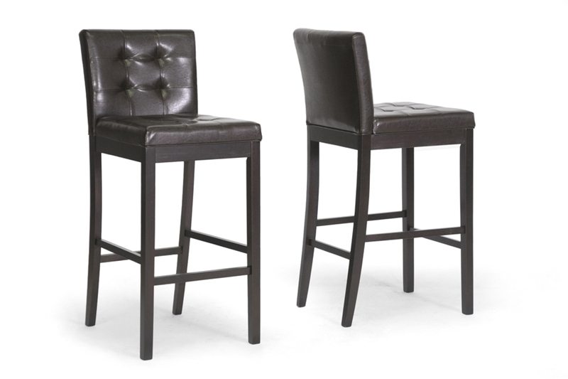 Wholesale Interiors Baxton Studio Prospect Brown Modern Bar Stool (Set of 2)