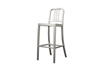 Wholesale Interiors Baxton Studio Modern Cafe Bar Stool in Brushed Aluminum